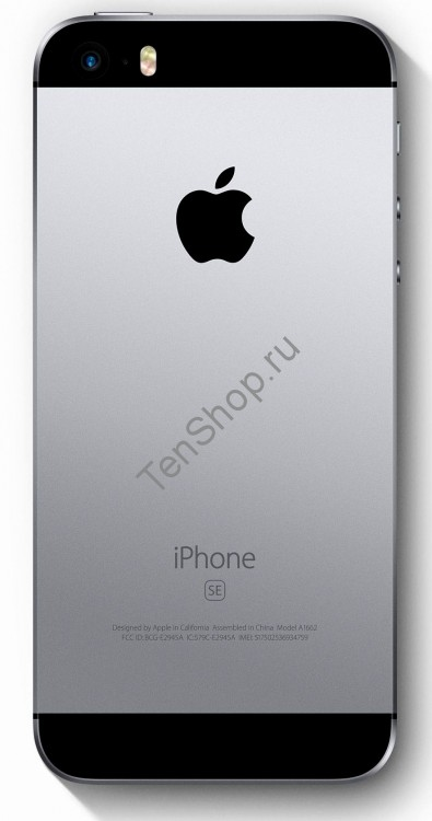 Корпус iPhone 5SE черный (Space gray, Black)
